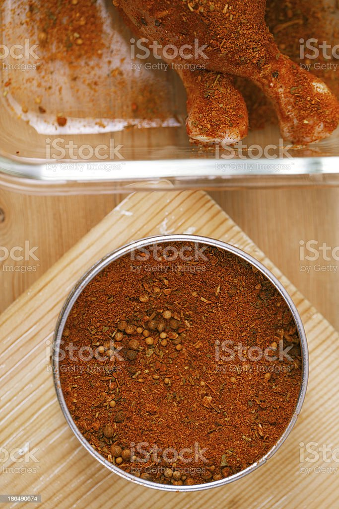 spices Chicken BBQ Rub mix of Herbs, shallow dof royalty-free stock photo