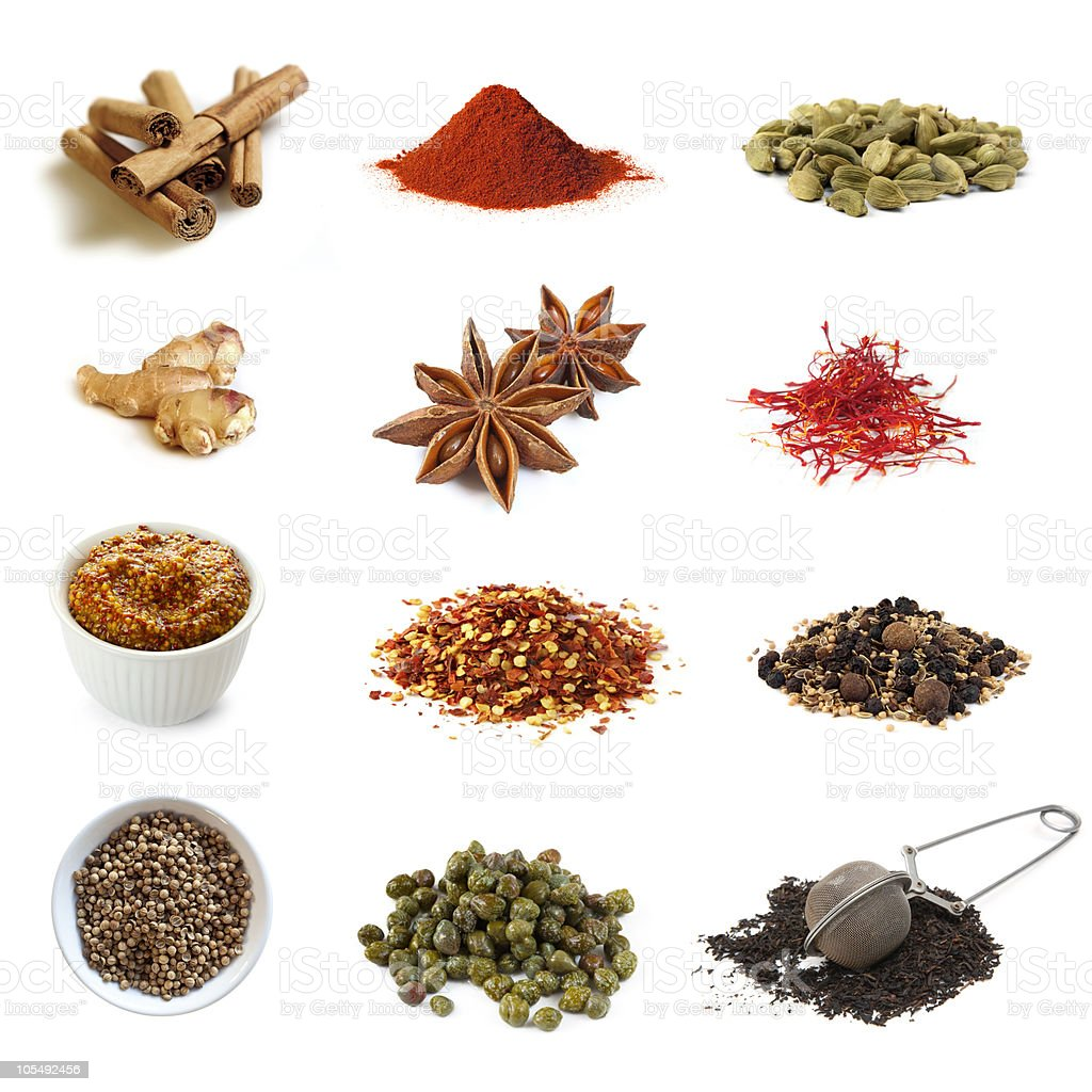 Spices Collection royalty-free stock photo