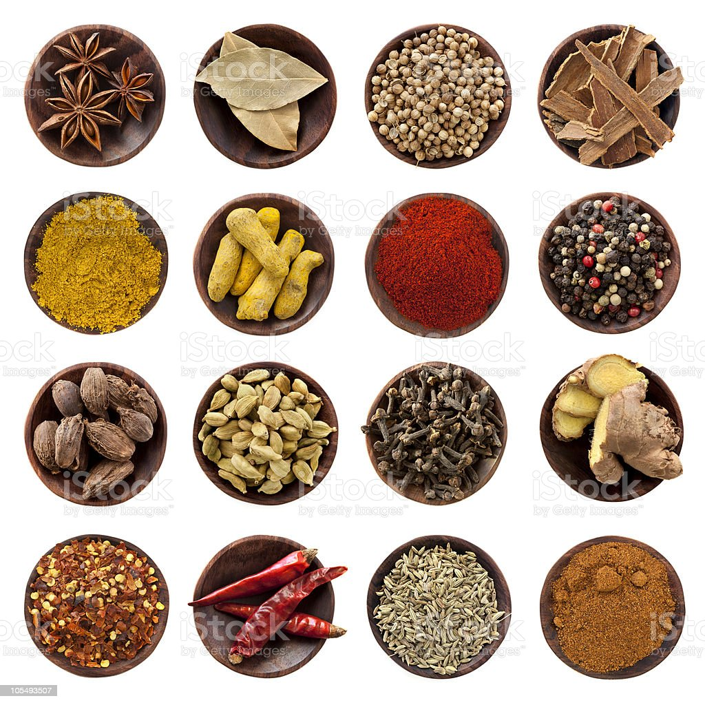 Spices Collection XXXL royalty-free stock photo