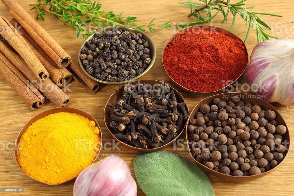 Spices composition royalty-free stock photo