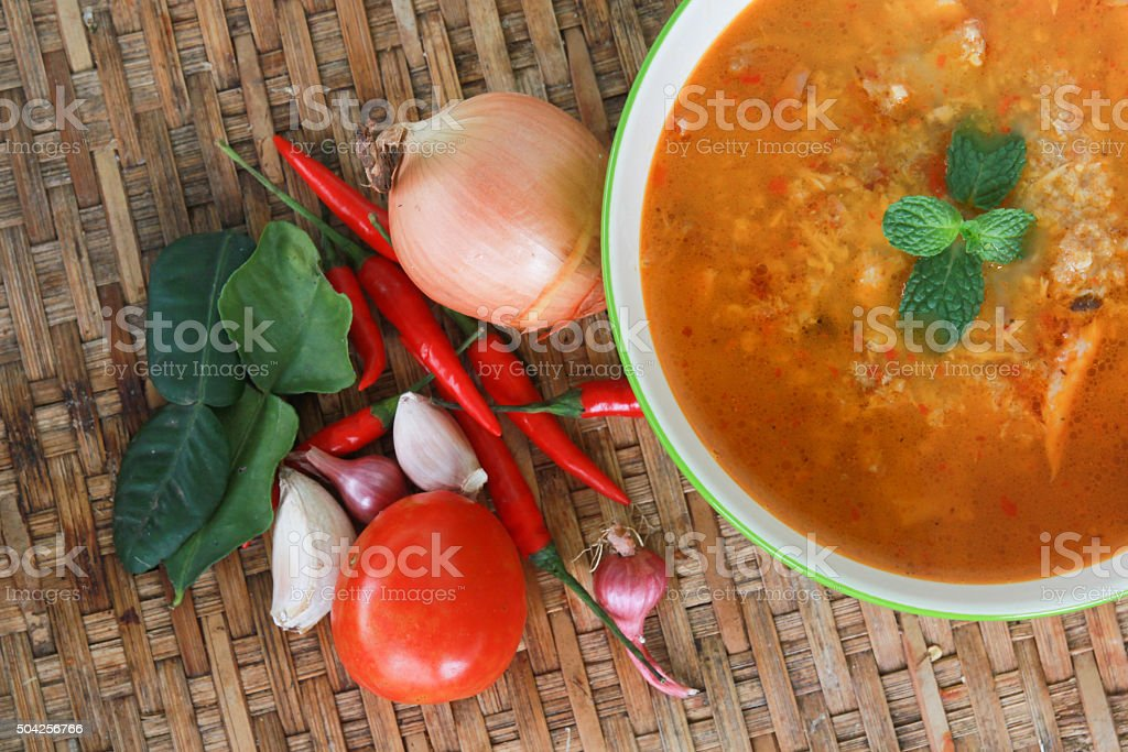 Spices for cooking thai food tom yam stock photo