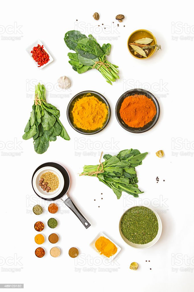spices for food on background. stock photo
