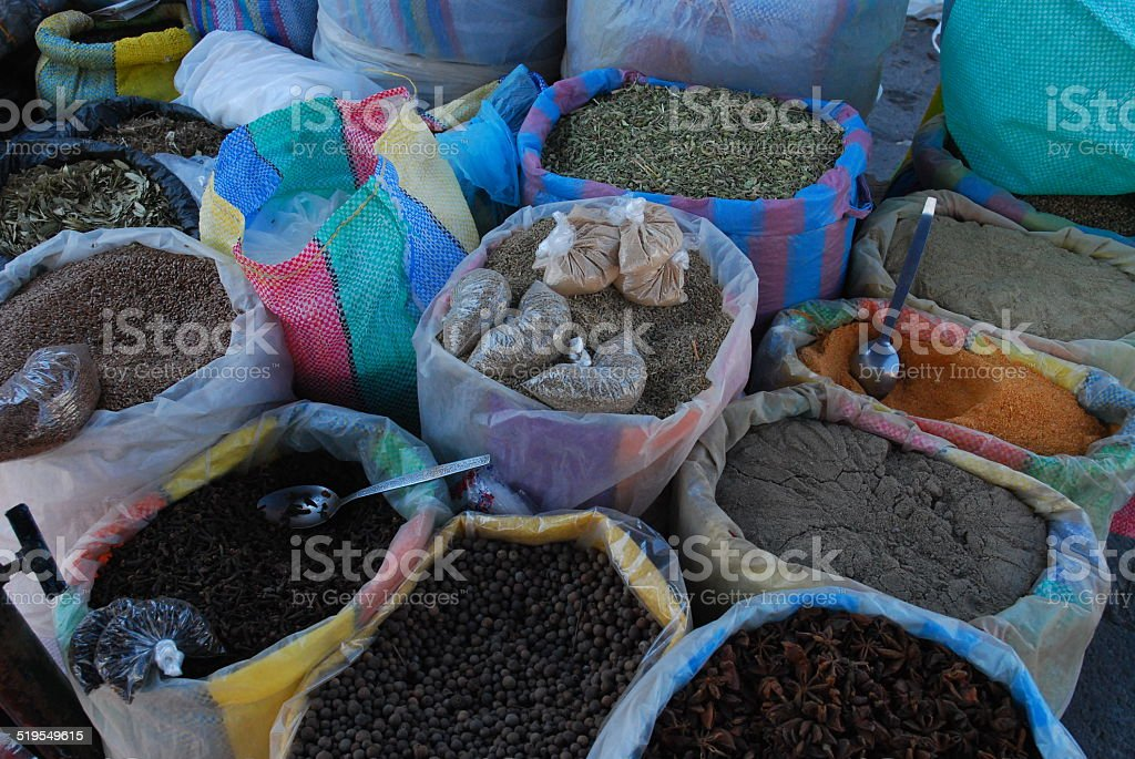 Spices for Sale at the Market royalty-free stock photo