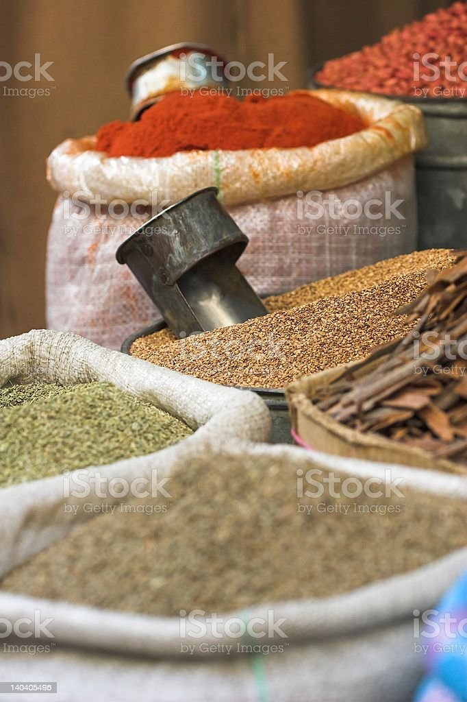 spices for sale royalty-free stock photo