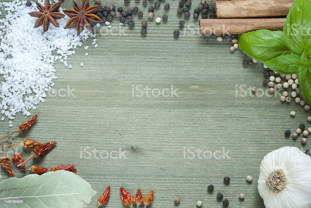 Spices, frame stock photo