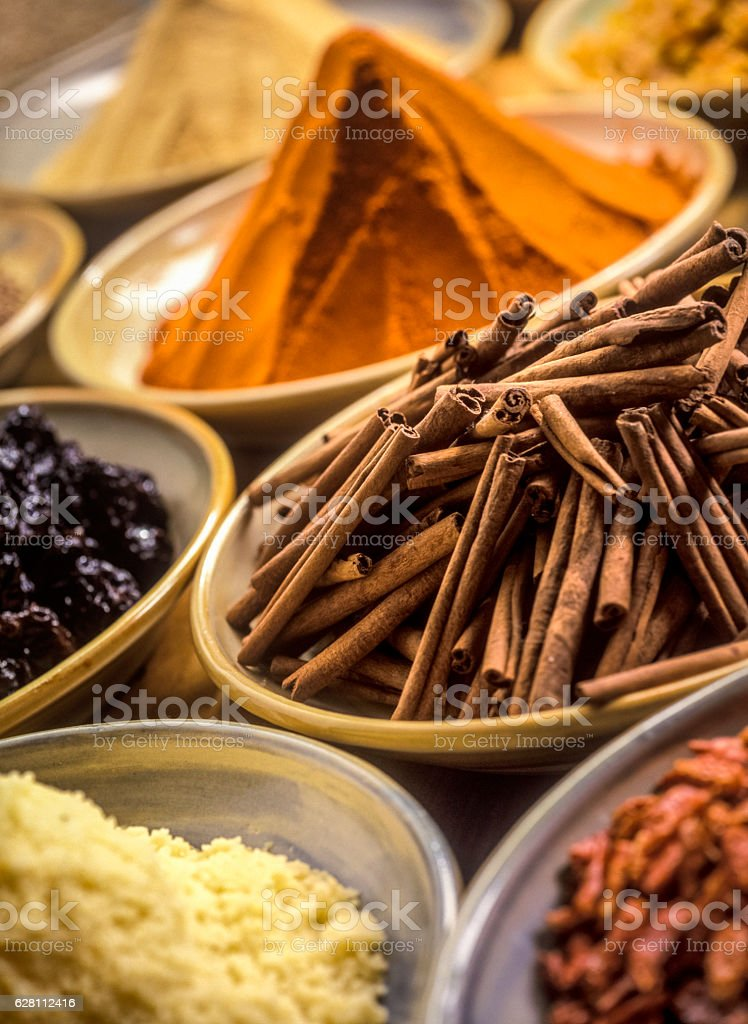 spices from Asia stock photo