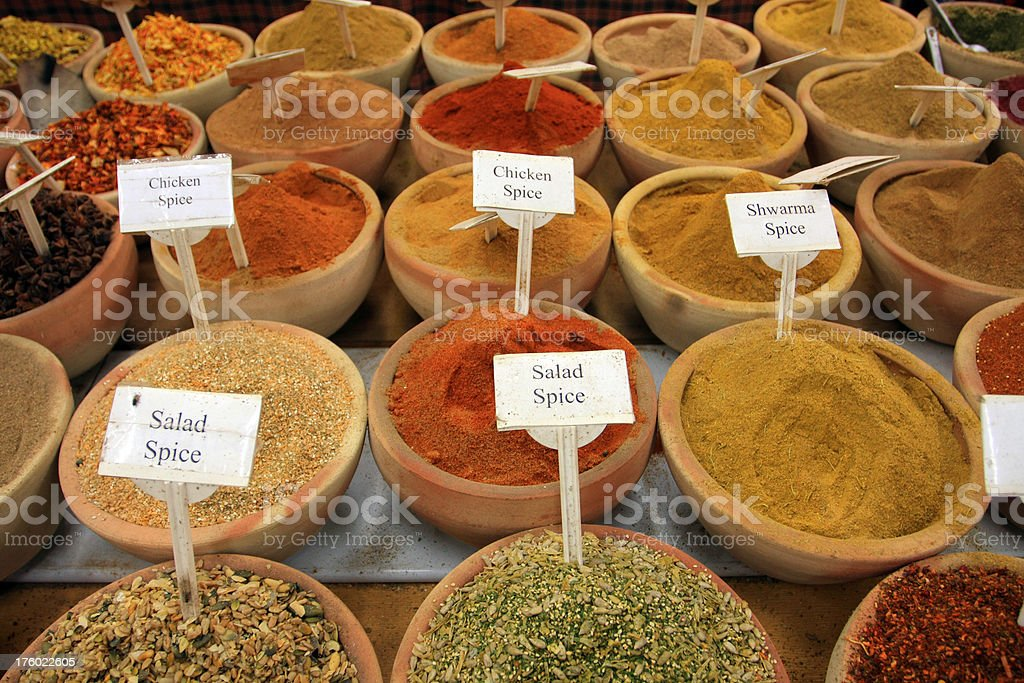 Spices from the Middle East royalty-free stock photo