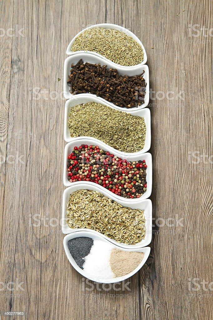 spices ibn white box royalty-free stock photo