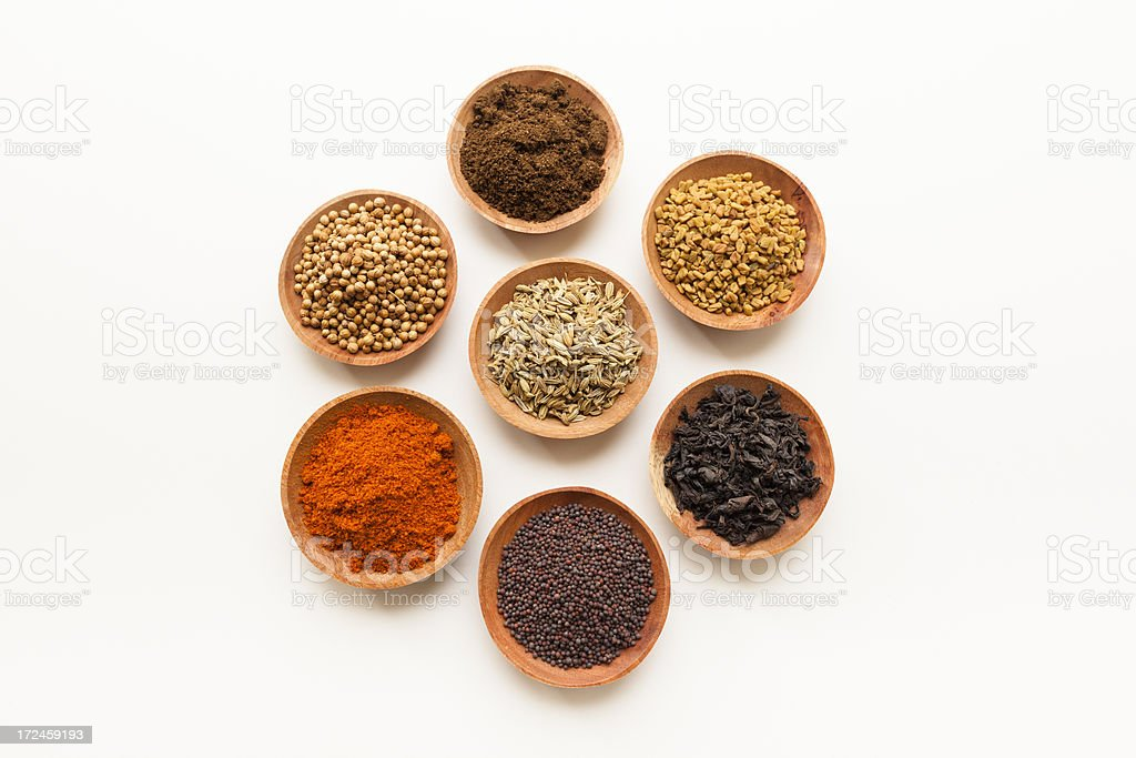 Spices in a Circle royalty-free stock photo