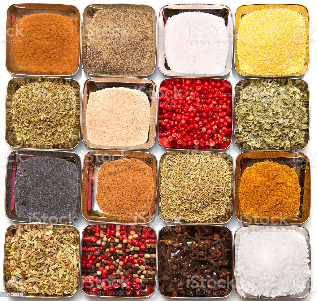 Spices in  box royalty-free stock photo