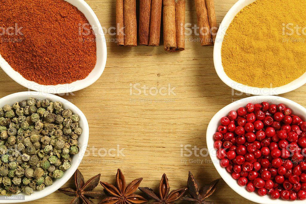 Spices in containers royalty-free stock photo