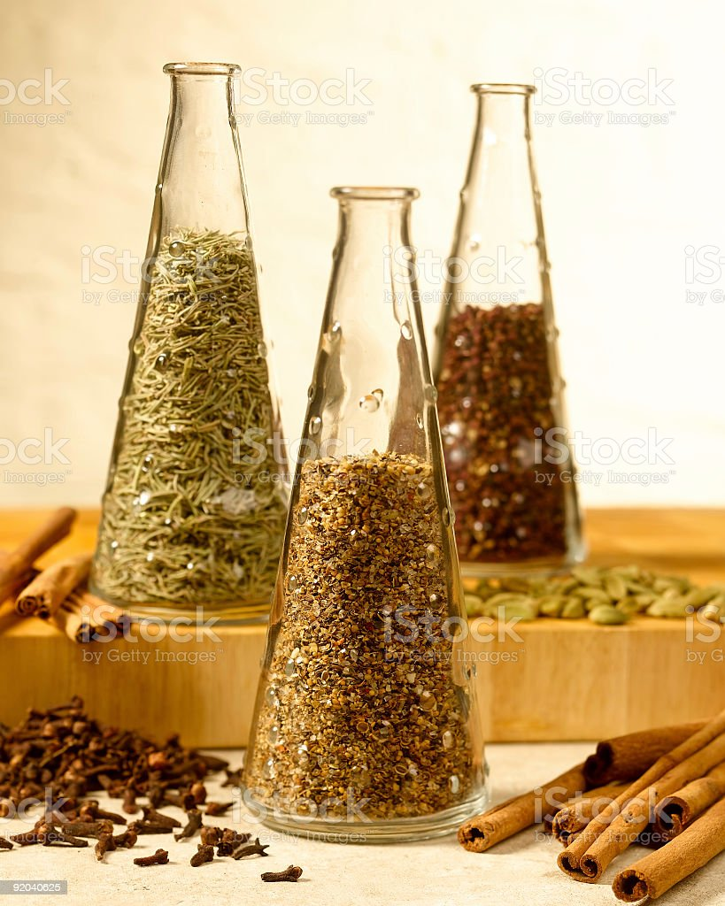 Spices in Jars stock photo