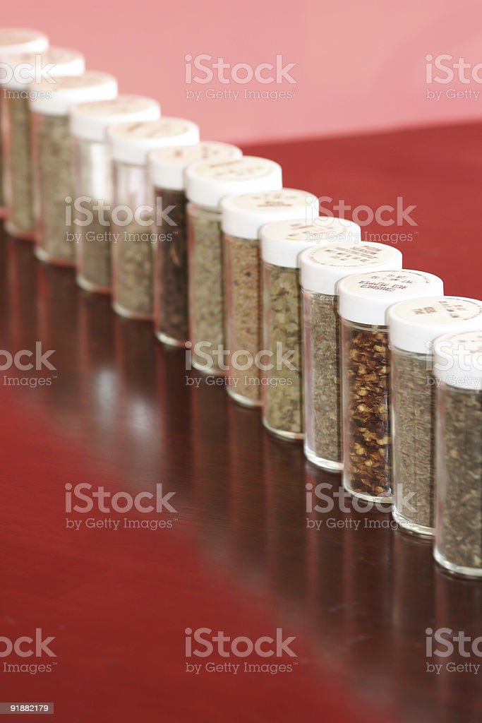 Spices in Line stock photo
