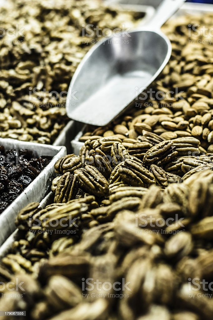 Spices in local market royalty-free stock photo