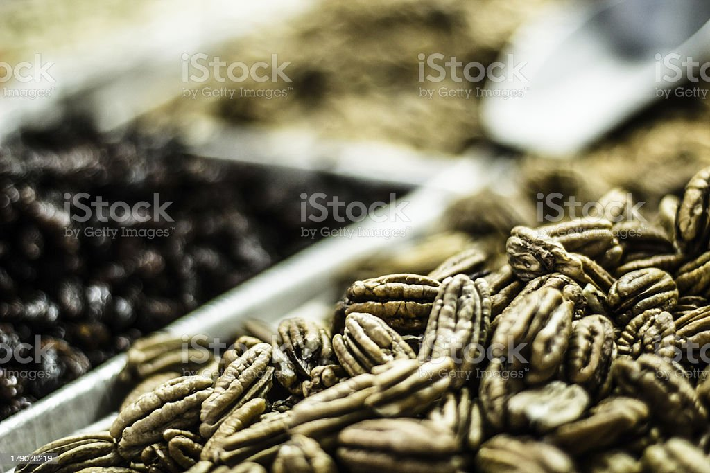 Spices in local market stock photo