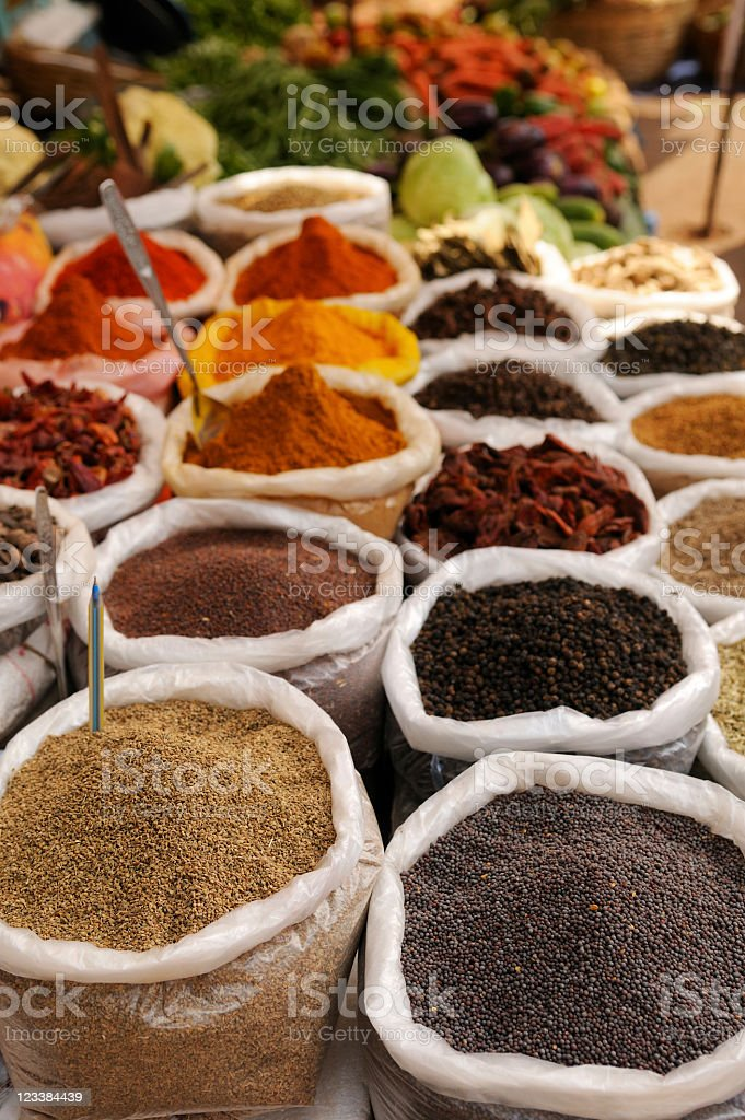 Spices in Market royalty-free stock photo