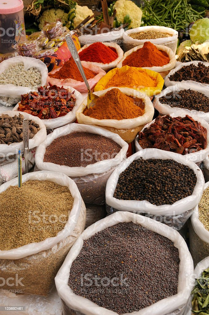 Spices in Market stock photo