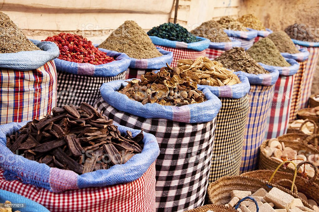 spices in marocco stock photo