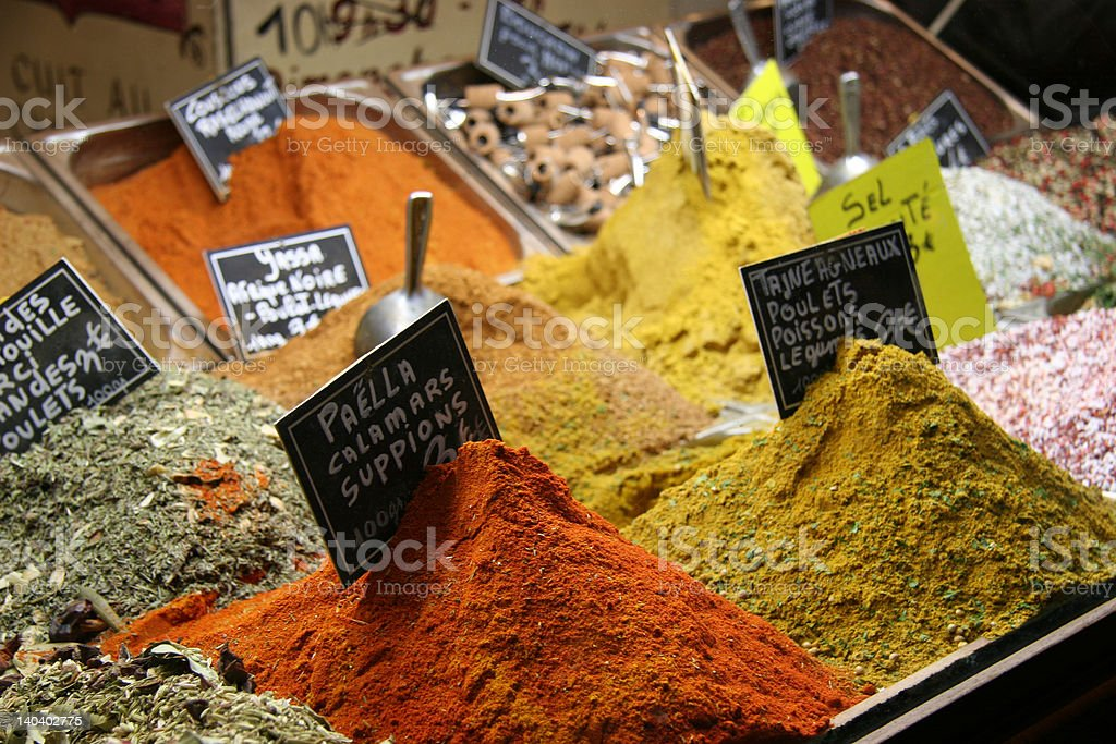Spices in Nice Market royalty-free stock photo