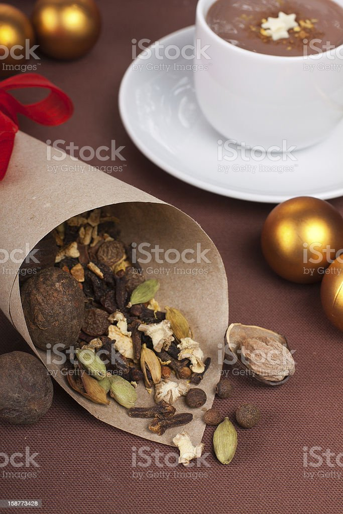 Spices in pocket royalty-free stock photo