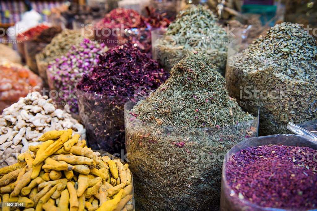 Spices in Souk stock photo
