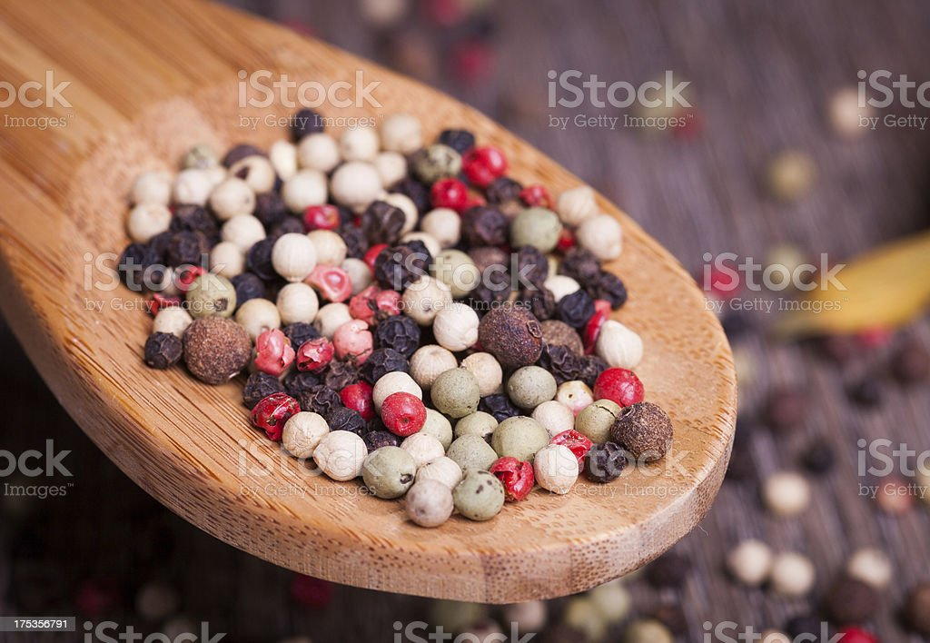 spices in spoon royalty-free stock photo