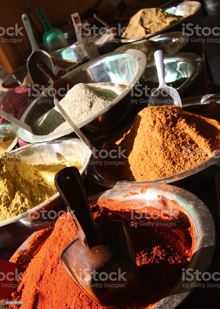 Spices in the Nazareth shop royalty-free stock photo