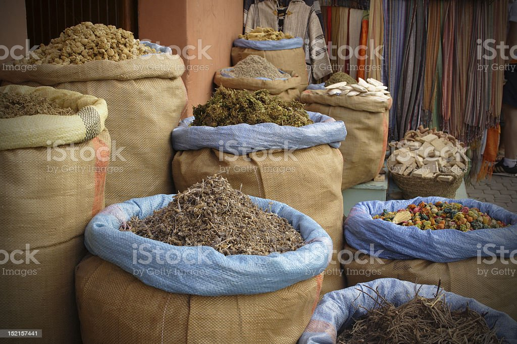 Spices in the sacks royalty-free stock photo