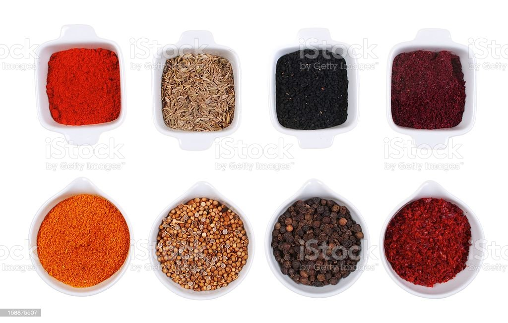 spices isolated in white royalty-free stock photo