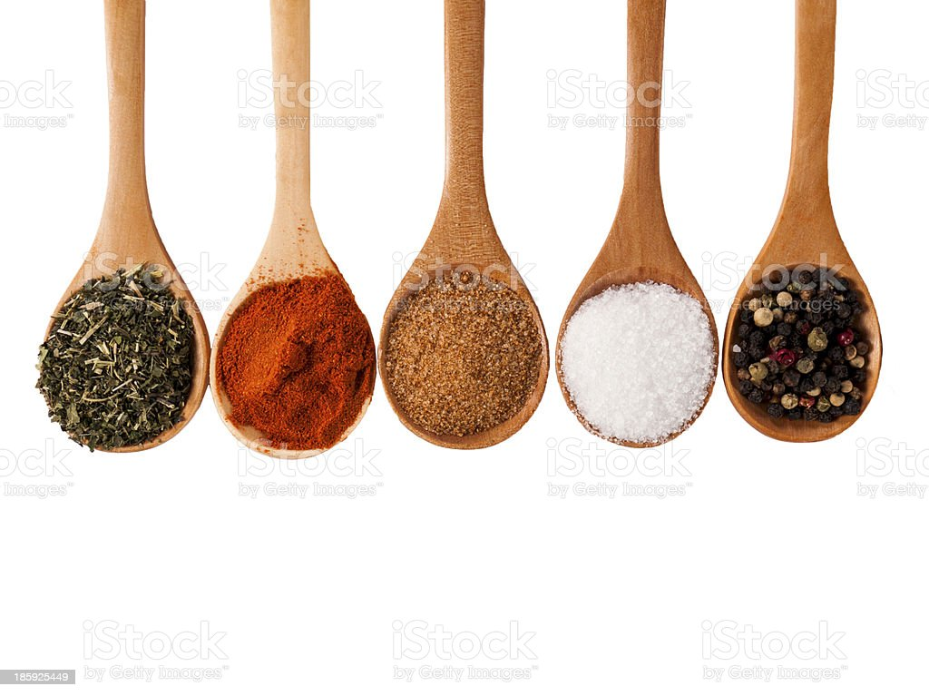 Spices isolated stock photo
