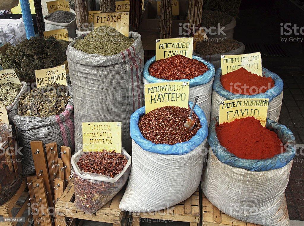 Spices market royalty-free stock photo