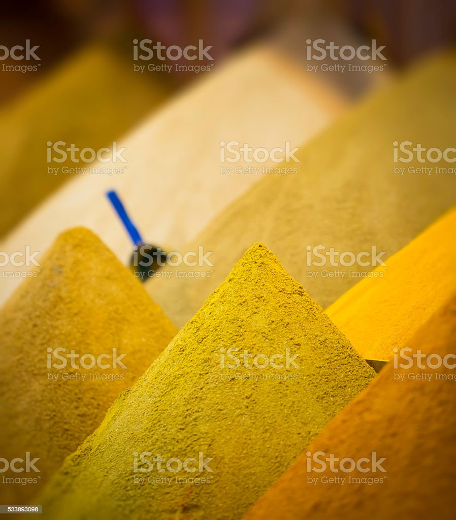 spices market stock photo