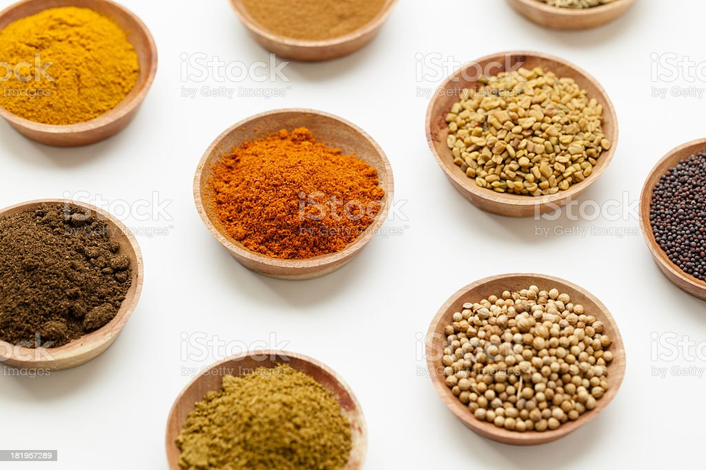 Spices of South Asia stock photo