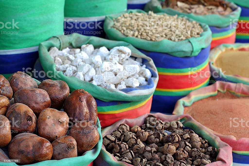 spices on sale in africa royalty-free stock photo