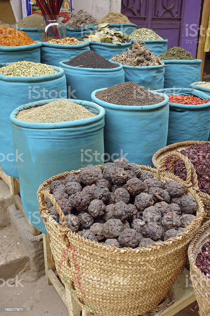 Spices on sale royalty-free stock photo