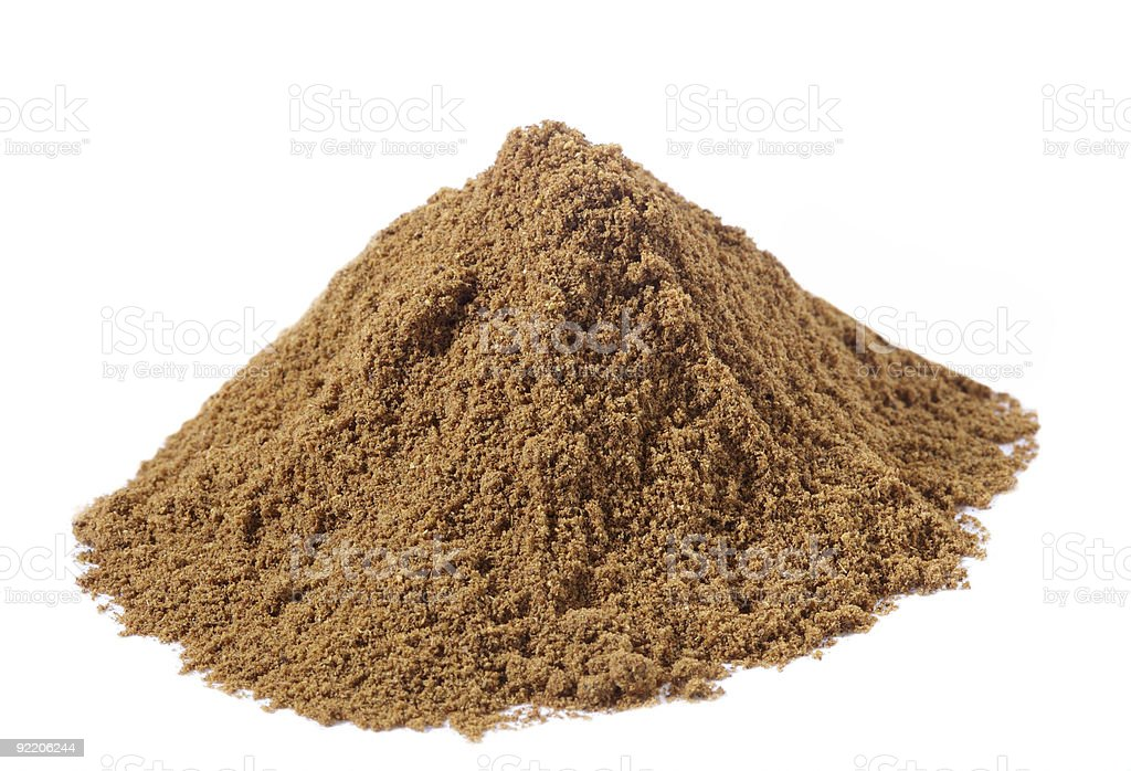 spices - pile of Special Garam Masala mix over white stock photo