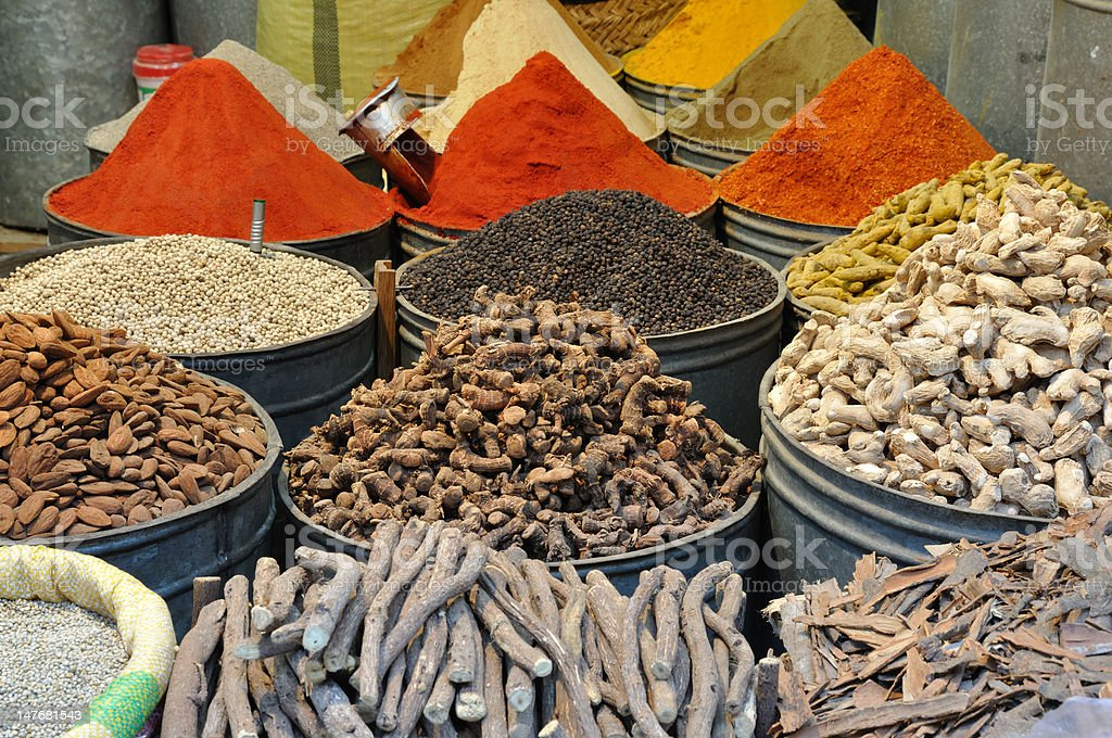 Spices shop in Morocco royalty-free stock photo