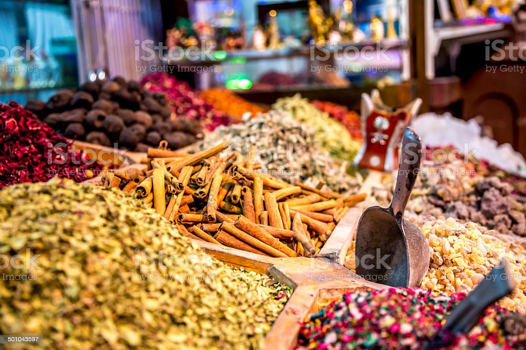 Spices souk in Dubaï royalty-free stock photo