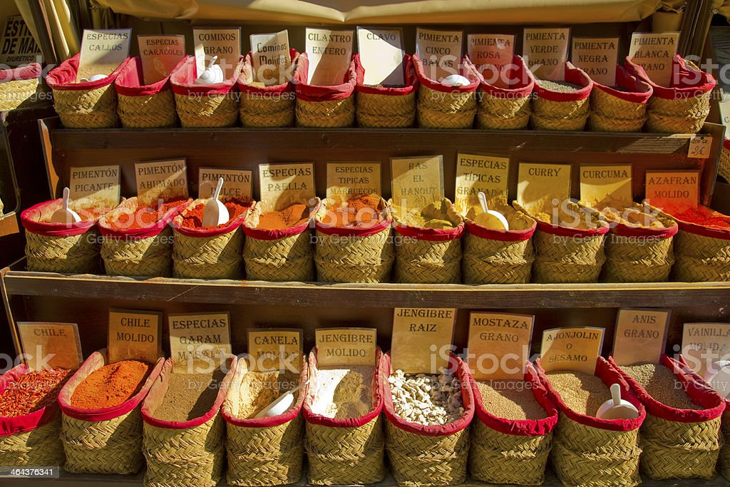 Spices Store royalty-free stock photo