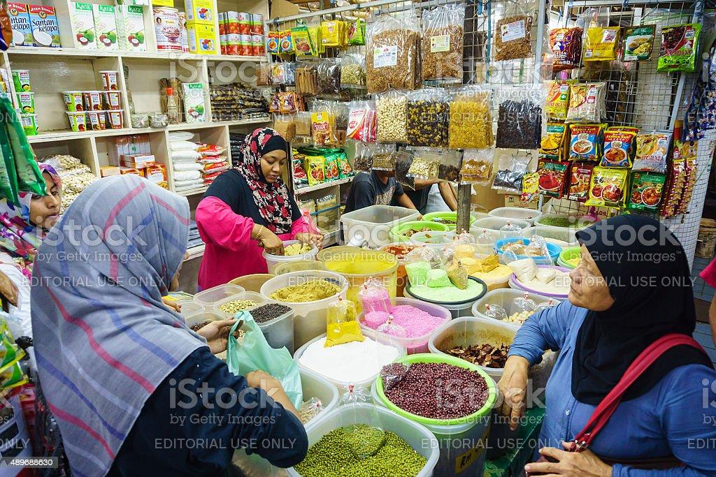 Spices vendor stock photo
