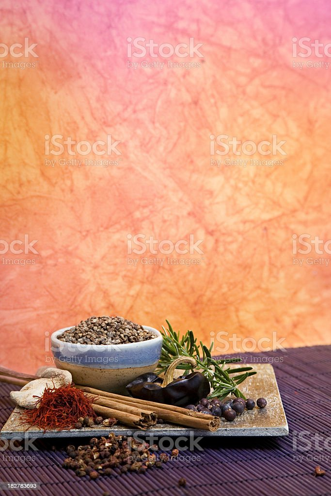 Spices with copy space royalty-free stock photo