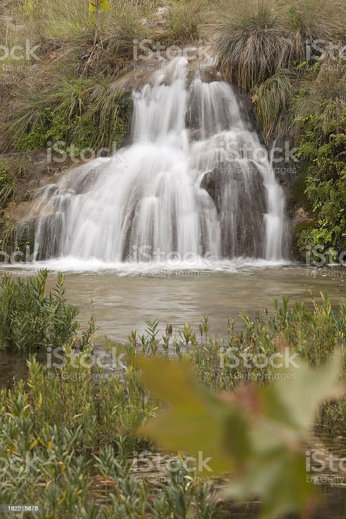 'Spicewood Springs Cascade at Colorado Bend State Park, Texas.' stock photo