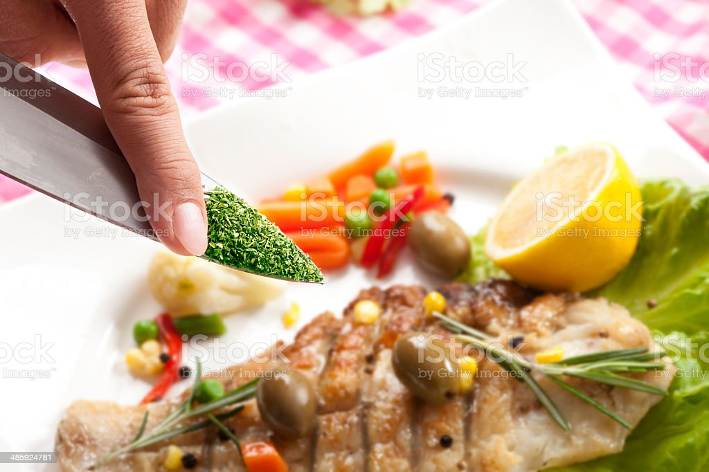 Spicing royalty-free stock photo