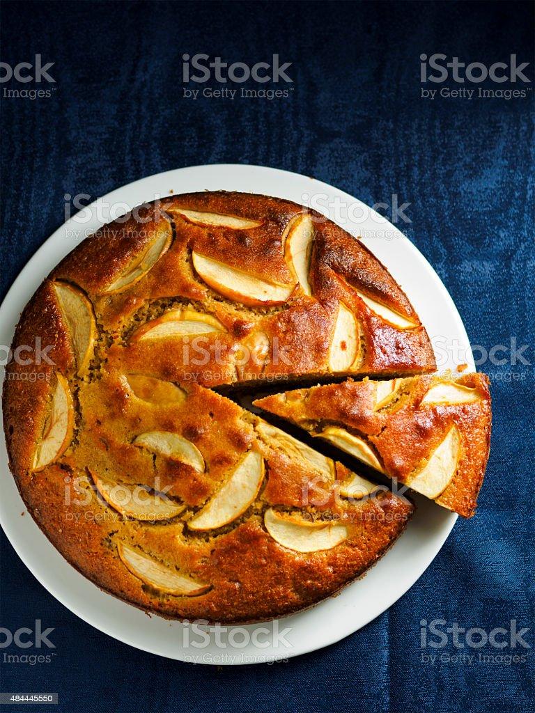 spicy apple cake stock photo