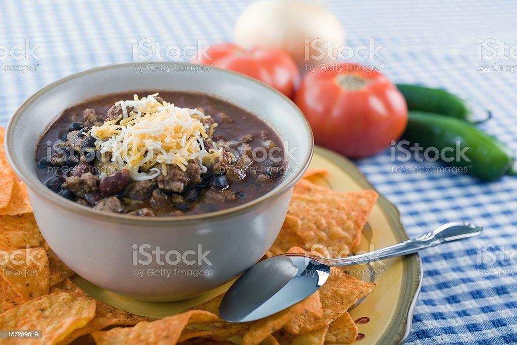Spicy Black Bean Chili stock photo