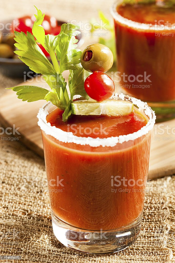 Spicy Bloody Mary Alcoholic Drink royalty-free stock photo