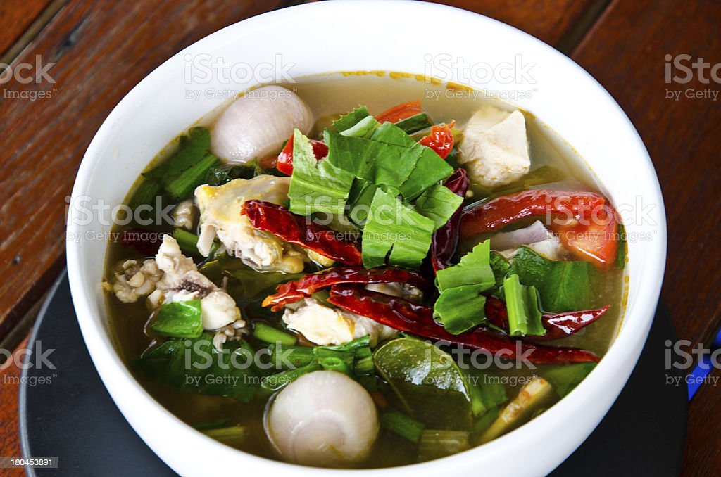 Spicy Chicken Soup is famous royalty-free stock photo