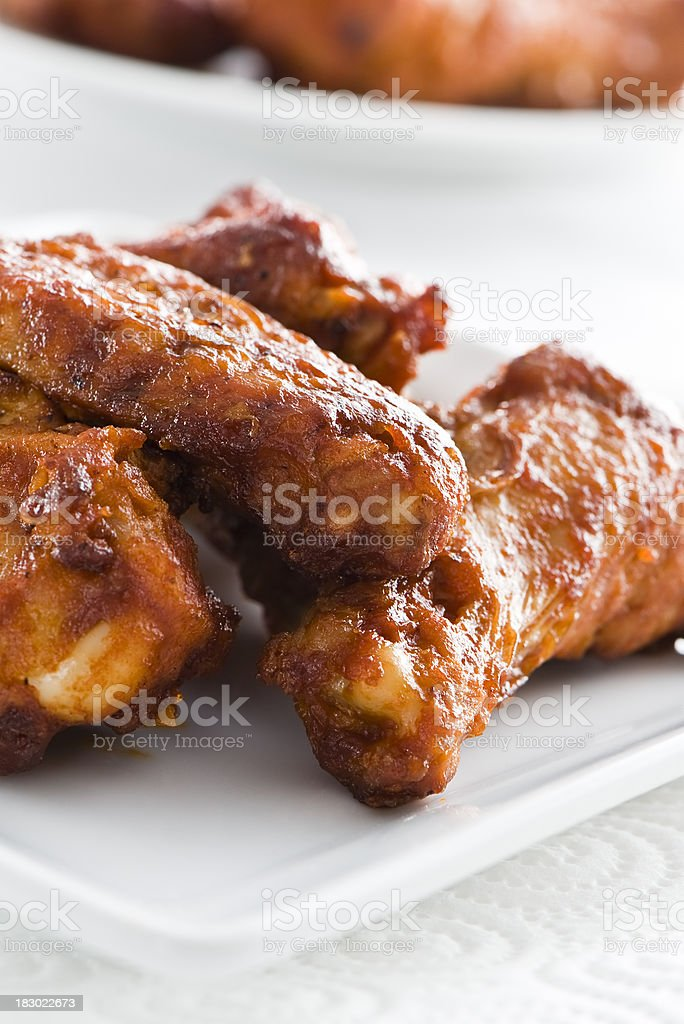Spicy chicken wing royalty-free stock photo