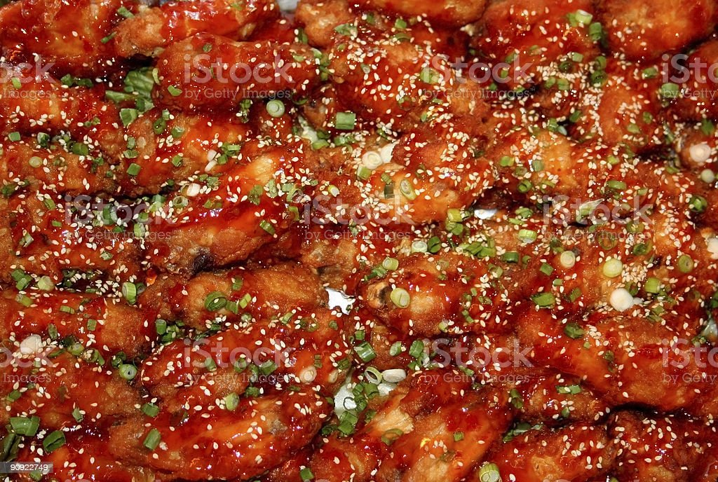 Spicy Chicken wings royalty-free stock photo