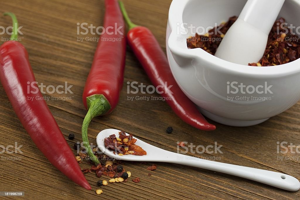 spicy chili powder royalty-free stock photo